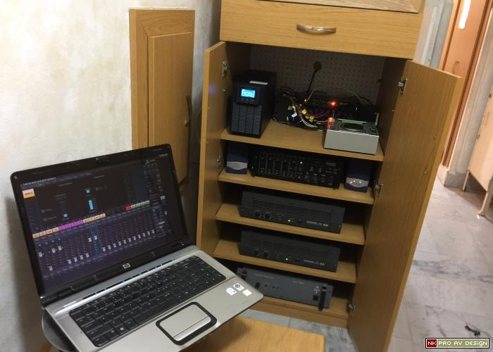 audio system cabinet view